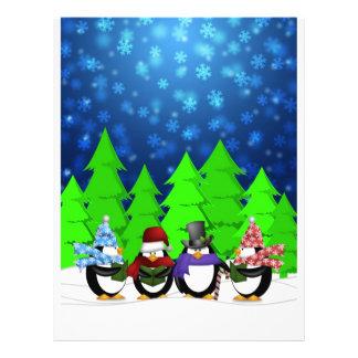 Cute Penguins Carolers Flyer