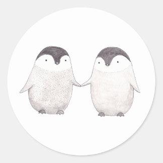 Cute Penguins Couple Happy Penguins Sticker