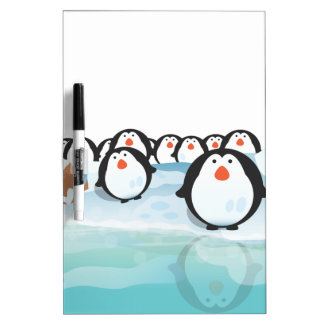 Cute Penguins Dry-Erase Whiteboards