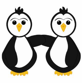 Cute Penguins Holding Hands Cutout
