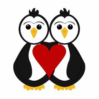 Cute Penguins In Love Cutout