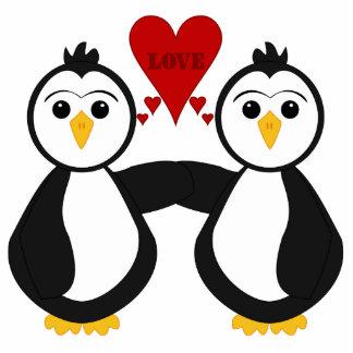 Cute Penguins Thinking Love Statuette