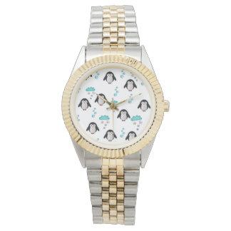 cute penguins wristwatch