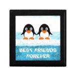 Cute Penquin On Iceberg Box-Best Friends Trinket Box