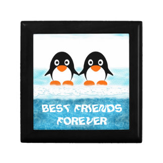 Cute Penquin On Iceberg Box-Best Friends Jewelry Box