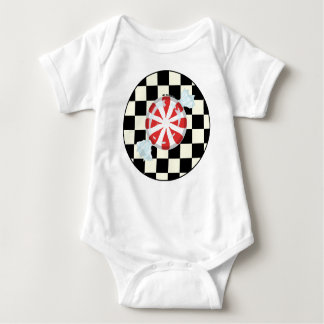 Cute Peppermint Candy Baby Baby Bodysuit