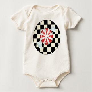 Cute Peppermint Canndy Baby Organic Baby Bodysuit