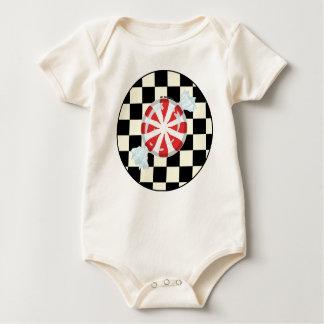 Cute Peppermint Canndy Baby Organic Bodysuit