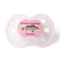 Cute Perch Fishing Fish Daddy's Fishing Partner Pacifier