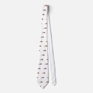 Cute Perched Owl Drawing Neck Tie