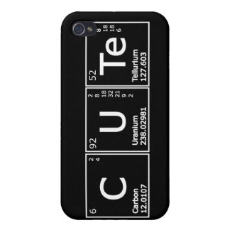 Cute  Periodic Elements Girly Nerd Chemistry iPhon Cover For iPhone 4