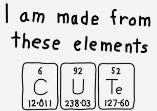 cute periodic table name shirt