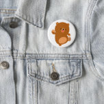 Cute Perky Cartoon Bear Button