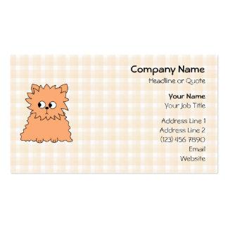 Cute Persian Cat. Ginger Orange. Business Card