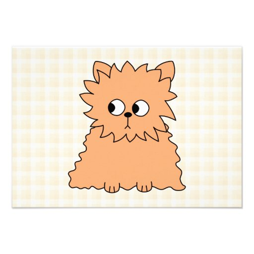 Cute Persian Cat. Ginger Orange. Custom Invites