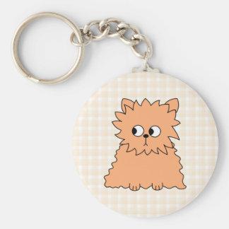 Cute Persian Cat. Ginger Orange. Key Chain