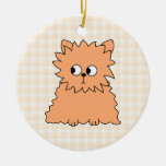 Cute Persian Cat. Ginger Orange. Christmas Tree Ornaments