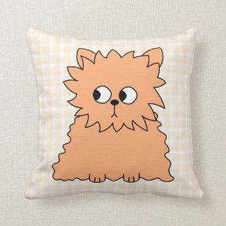 Cute Persian Cat. Ginger Orange. Throw Pillow