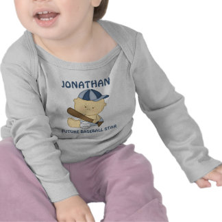 Cute personalised baseball kid infant t-shirts