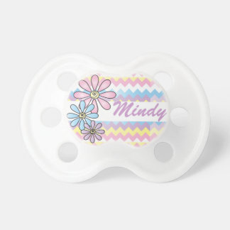 Cute Personalize Pastel Chevron Pacifier