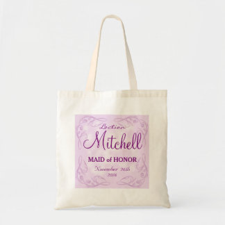 Cute personalized abstract maid of honor wedding budget tote bag