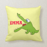 Cute Personalized Alligator Pillow