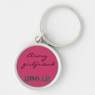 Cute personalized army keychain