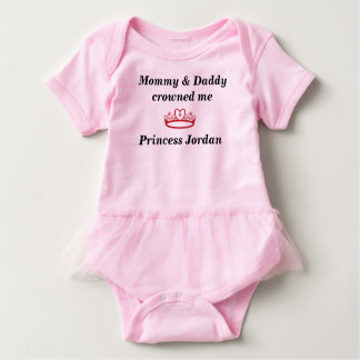 Cute Personalized Baby Girl Princess Onesis Baby Bodysuit