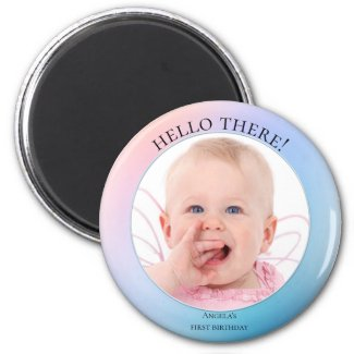Cute Personalized Baby Photo Magnet
