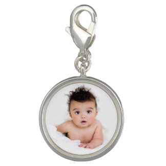 Cute Personalized Baby Photo Photo Charm