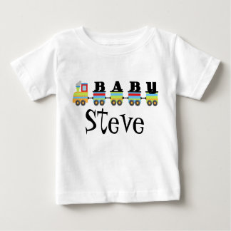 Cute Personalized Baby Steve Train Gift Baby T-Shirt