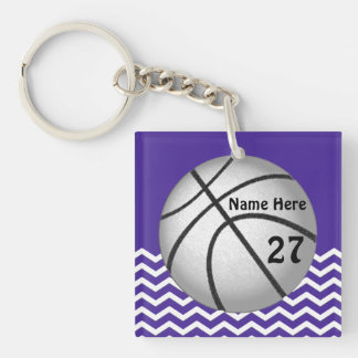 Cute Personalized Basketball Keychains for Girls