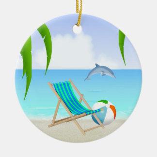 Cute Personalized Beach Ornament