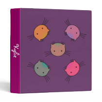 Cute Personalized Binder with Cat Faces