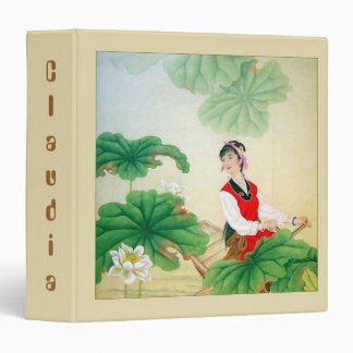 Cute Personalized Binder with Oriental Motif