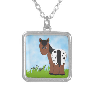 Cute Personalized Blanket Appaloosa Horse Silver Plated Necklace