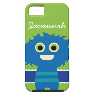 Cute Personalized Blue Lime Green Monster Case iPhone 5 Cover