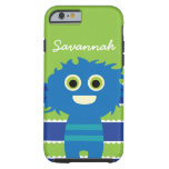 Cute Personalized Blue Lime Green Monster Case iPhone 6 Case