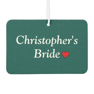 Cute Personalized Bridal Wedding Air Freshener