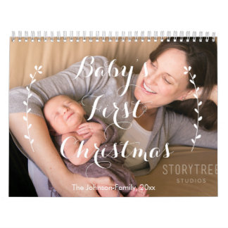 Cute Personalized Calendars Babies First Christmas