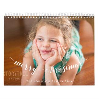 Cute Personalized Calendars Merry Christmas
