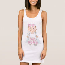 Cute personalized cartoon bride sleeveless dress