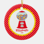 Cute Personalized Christmas Ornament Girl Gumball