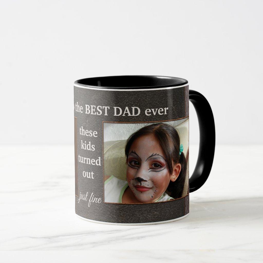 Cute Personalized Dad Photo Mug