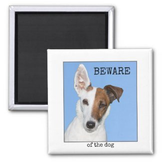 Cute Personalized Dog Photo Magnet