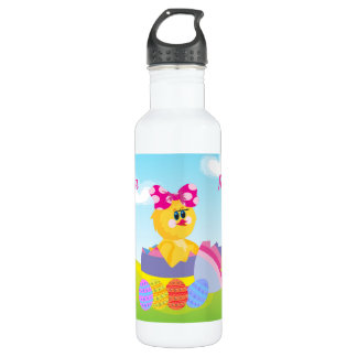 Cute Personalized Easter chic 24oz Water Bottle