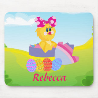 Cute Personalized Easter chic Mouse Pad