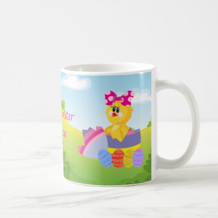 Cute Personalized Easter chic Mugs