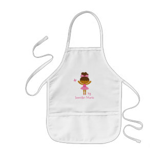 Cute personalized ethnic ballerina apron