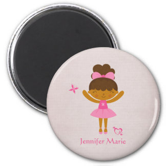 Cute personalized ethnic ballerina magnet